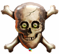 Pirate Skull Super Shape Foil Balloon